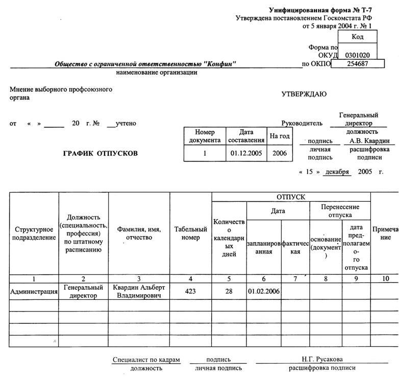 приказ о внедрении положения образец