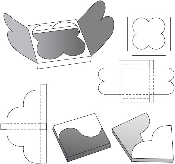 Схема коробки футляра