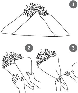Чем обернуть цветы в домашних условиях