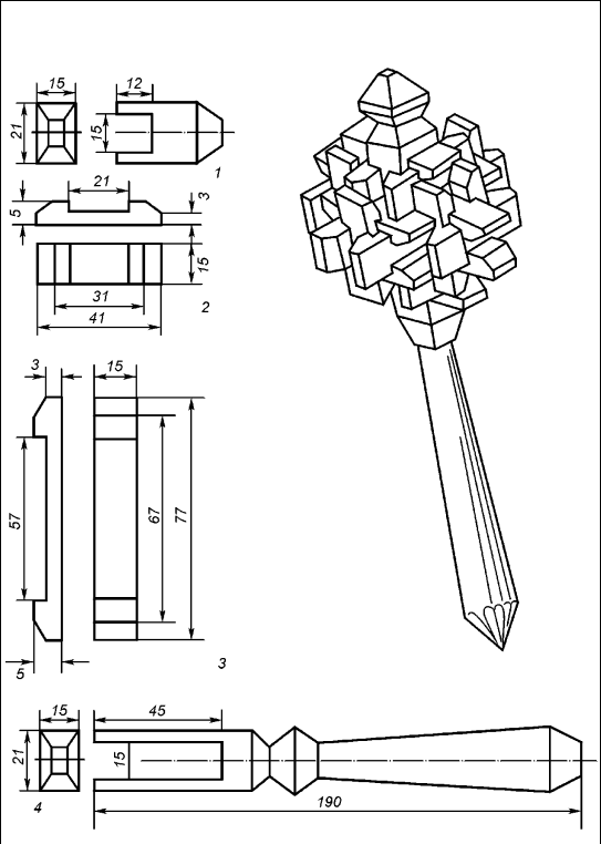 Конфетницы из дерева своими руками чертежи 11