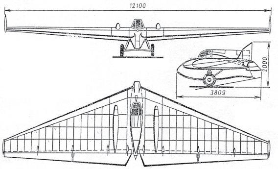 Схема ракетного планера «РП-1»