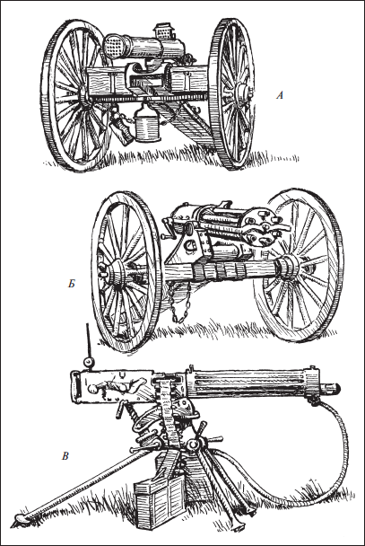Пулеметы Гочкиса используются