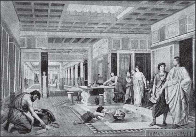 Интерьер древнегреческого дома