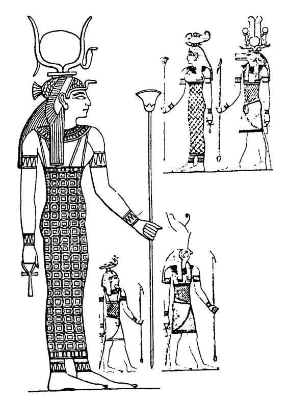 Боги древнего египта слева изида