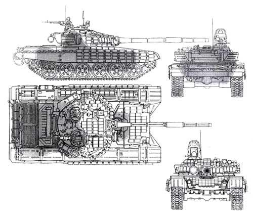 Схема поражения танков Т- 72 в