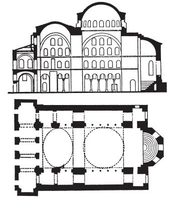 План церкви Святой Ирины. 532