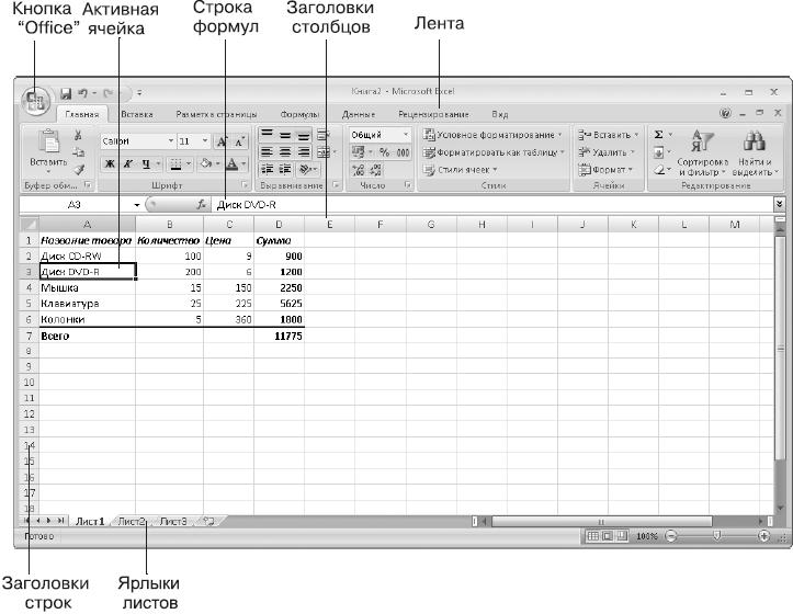 Excel office microsoft 7 программу