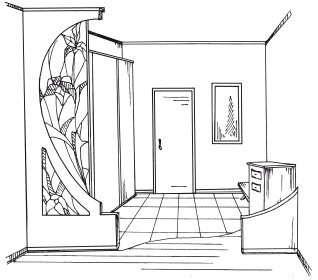 дизайн узкого коридора со шкафом фото