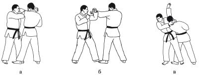 2 защита от удара наотмашь рукой, ножом, предметом