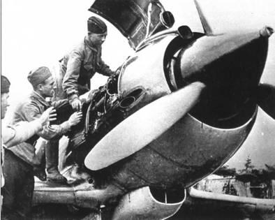 Обслуживание МиГ-3 М-82А во