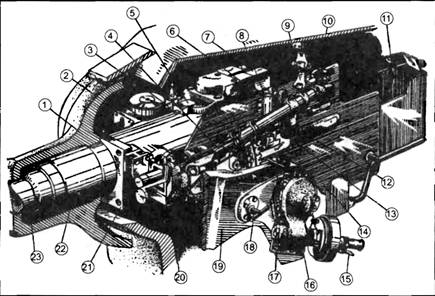 Схема установки пушки ЗИС-С-53
