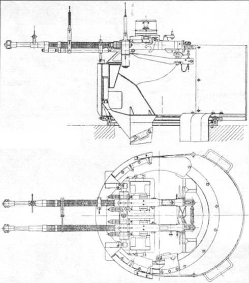 Схема двухствольной установки