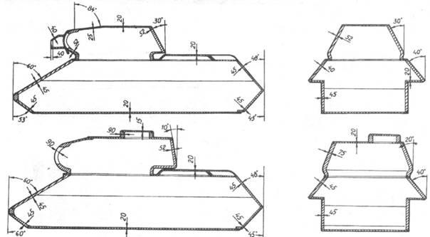 Схемы бронирования Т-34-76