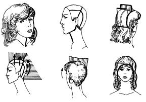 Стрижка волос в схемах