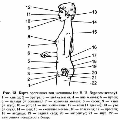 Сексуальные точки женского тела в картинках